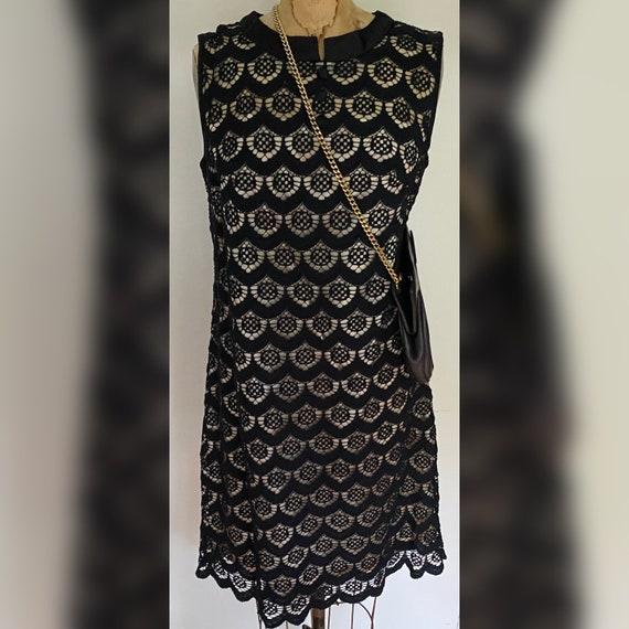 60s Black Mini Dress