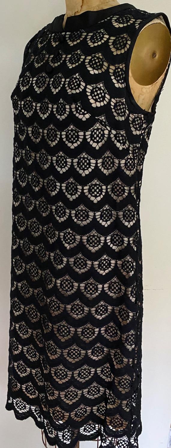 60s Black Mini Dress - image 3