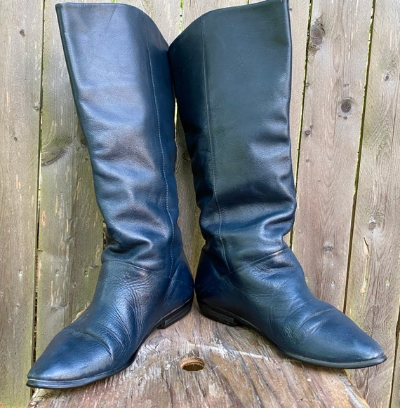 Vintage leather Knee High Boots