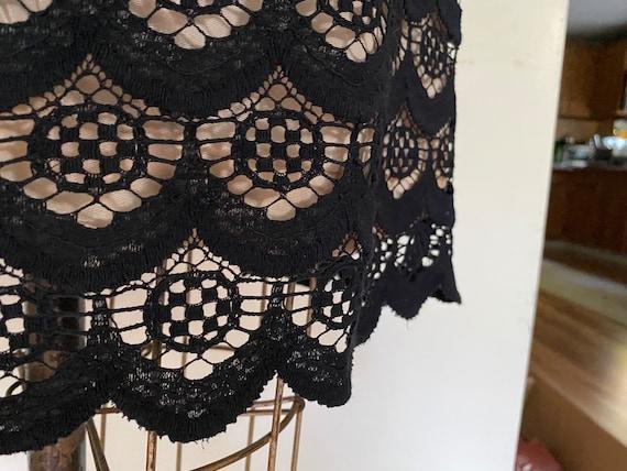60s Black Mini Dress - image 4
