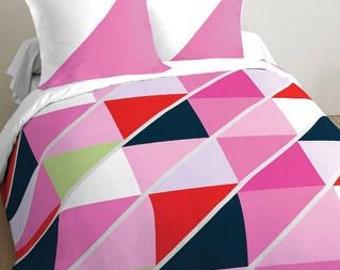 Cotton two-tone duvet cover