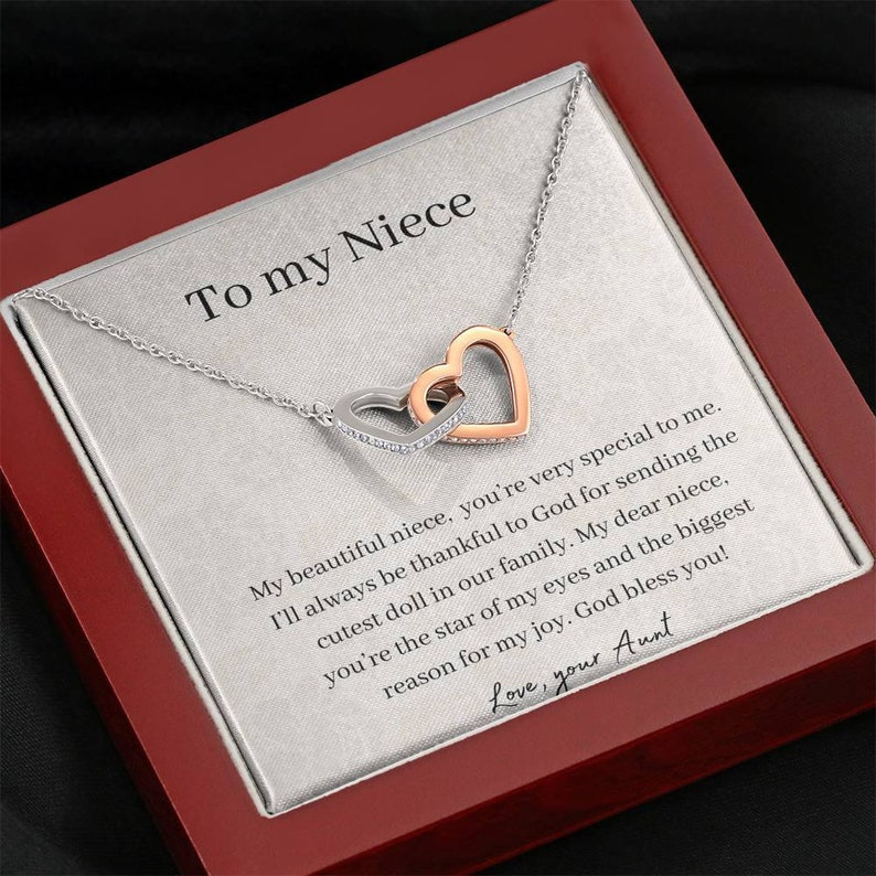 Niece Graduation To My Niece Necklace Niece Christmas Present 14k Heart Necklace Niece Niece Birthday Gift Gift for Niece from Aunt