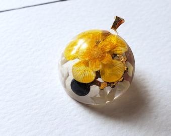 Layered Buttercup Pendant