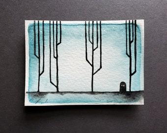 Ghost Mini Painting, Black Variation
