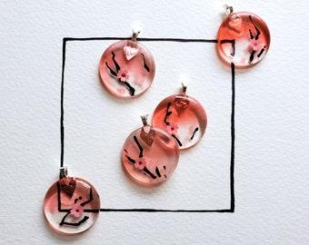 Cherry Blossom Resin Pendant