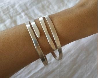 Raw Organic Silver Cuff Bracelet