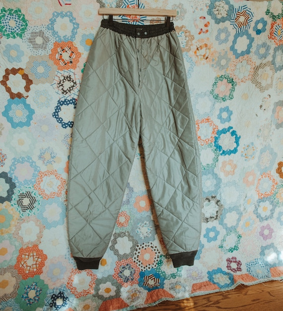 Quilted Liner Pant, Thermal Hunting Pants, Insulat