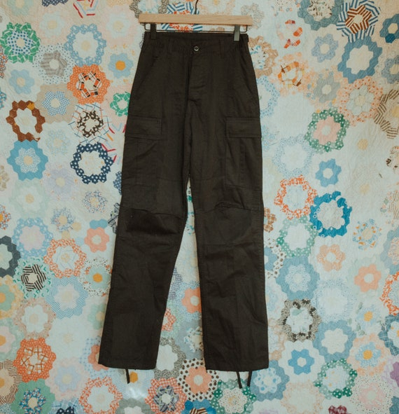 High Rise Army Cargo Pants, Black Army Cargo Pants