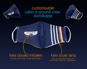 Cabin & ground crew mondkapjes / heren - customisable (NON-medical)