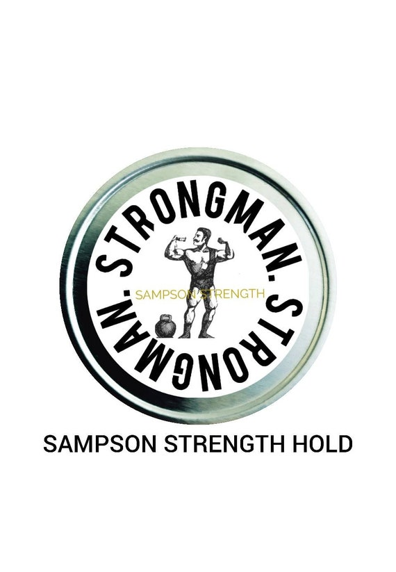New Sampson Strength Strongman Mustache Wax (New multiple scent options). World Strong Man Hold!  (Contact for Whole Sale Pricing)