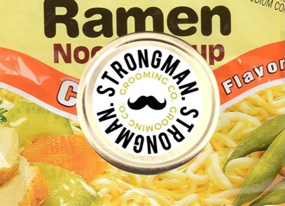 Limited Edition: Ramen Soup scented Strongman mustache wax medium-strong hold
