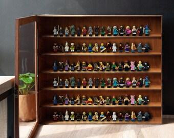 Mini figures display case,Figures display case,Figures display cabinet,Toys display case,Mini figures wall shelf,Wood display case