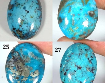 AAA Grade Quality Natural Turquoise Gemstone Wholesale Price TC#10 Natural Turquoise Cabochon Fancy Shape 42.30 Carat 40x22x6 mm