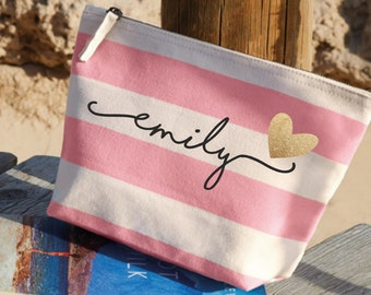 Personalized Gift for Women Custom Birthday Gift Personalized Makeup Bag Personalized Gift for Mom from Daughter Personalized Gift