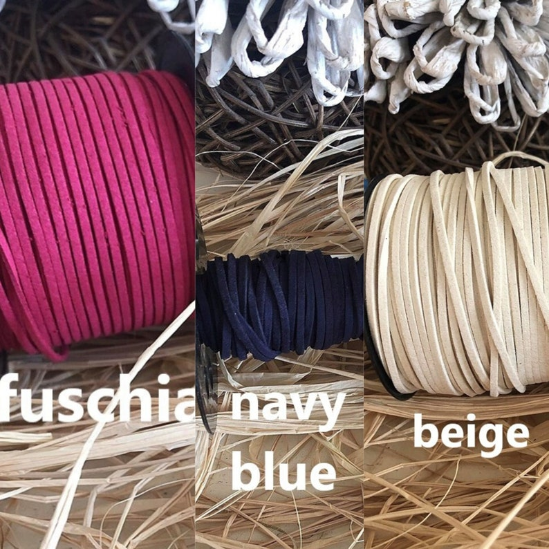 3mm Beige Suede Cord,Beige Faux Suede Cord,3mm Suede Cord,Suede Necklace Cord,Suede Bracelet Cord,Suede String