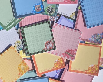 MEMO PADS Demon Slayer-Inspired All Bundles Notepads   for Stationery, Anime Journaling, Bullet Journaling, Planning, Studying