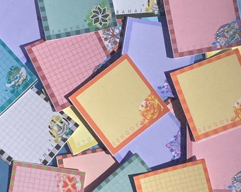 MEMO PADS Demon Slayer-Inspired Hashira Bundles Notepads   for Stationery, Anime Journaling, Bullet Journaling, Planning, Studying