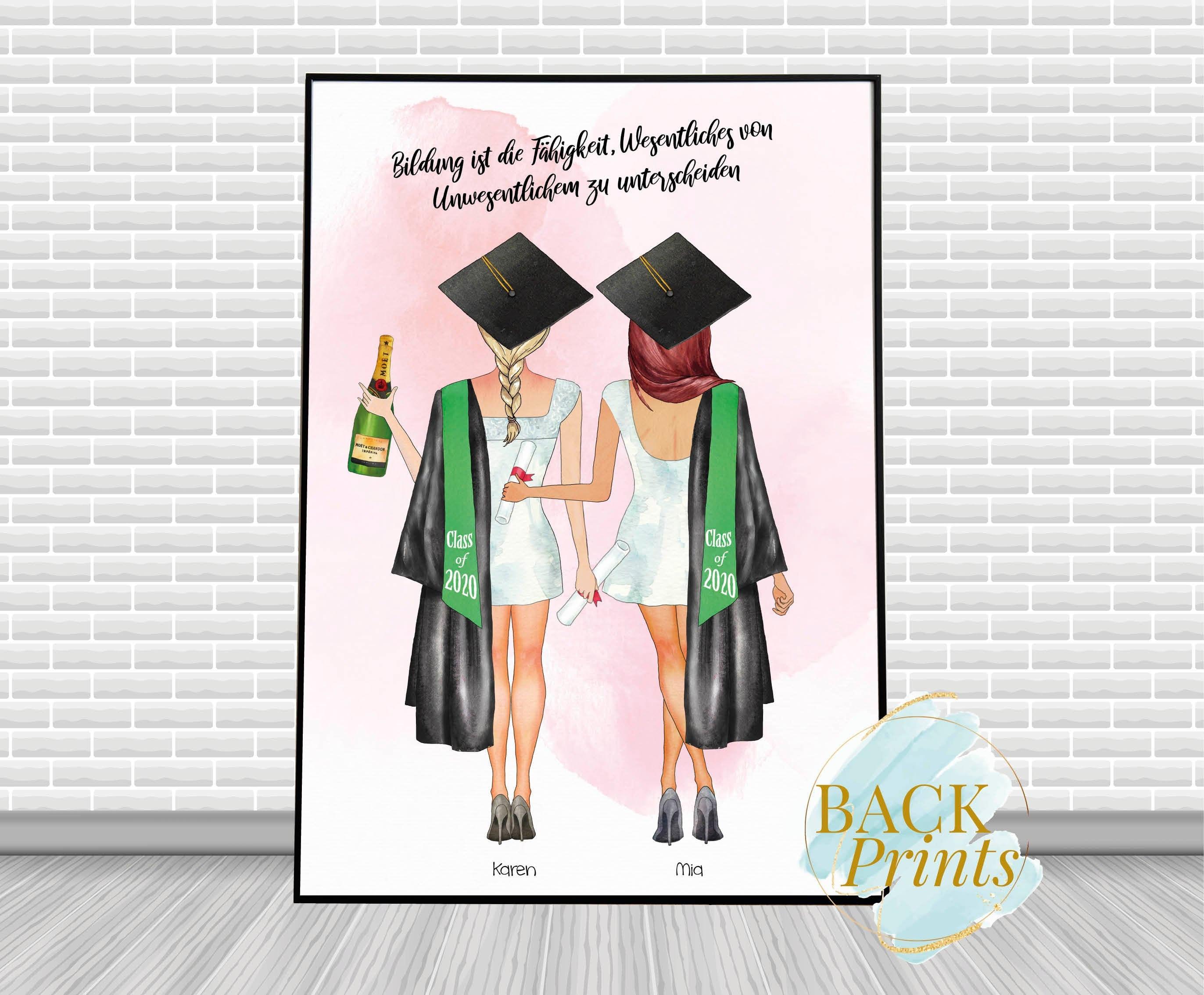 Custom Personalized Graduation Print Gift for her Best Friend BFF Friend Girlfriend High School College Class of 2020 print 8x10