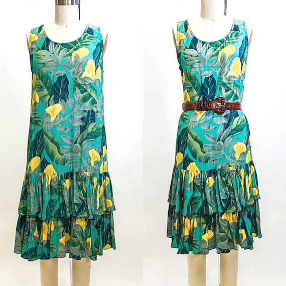 Vintage Alfred Sung Rayon Floral Dress