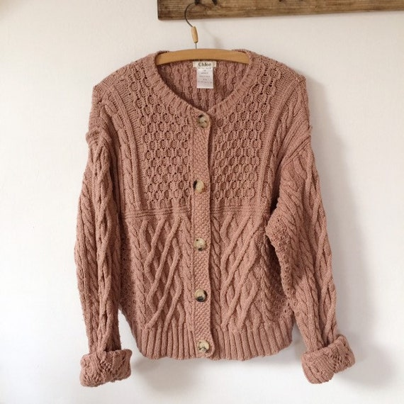 Chloe Dusty Rose Knitted Cardigan