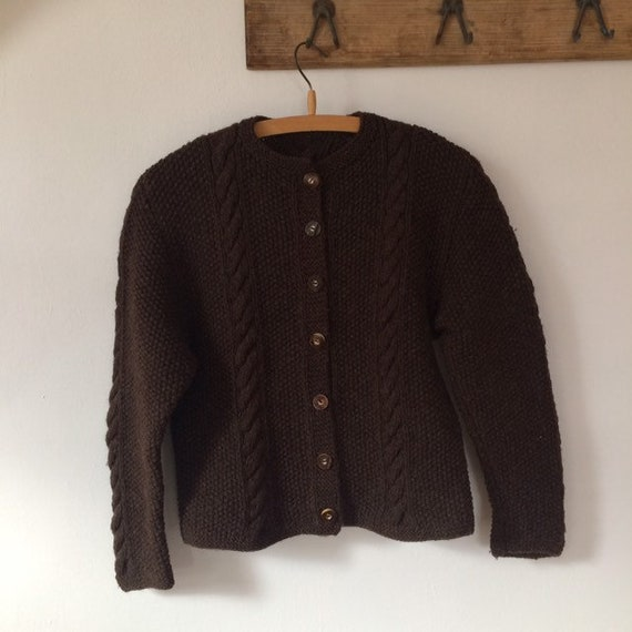 Traditional Wool cable knit Cardigan