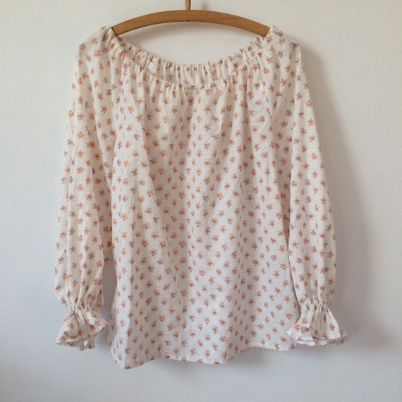 Floral Print Puff sleeve Blouse - image 3
