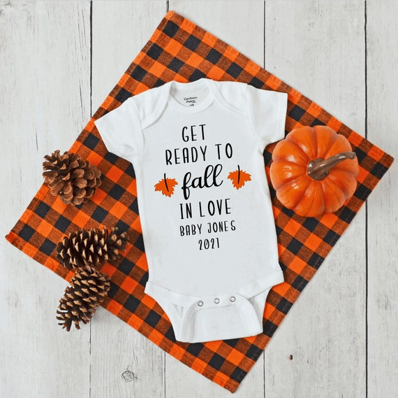 Get Ready to Fall in Love Baby Announcement Bodysuit Baby
