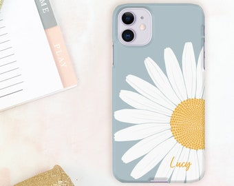 Daisy floral iPhone 12 case, Samsung Galaxy case or Google Pixel phone case. Fits iPhone 11, iPhone SE 2020, Samsung S10