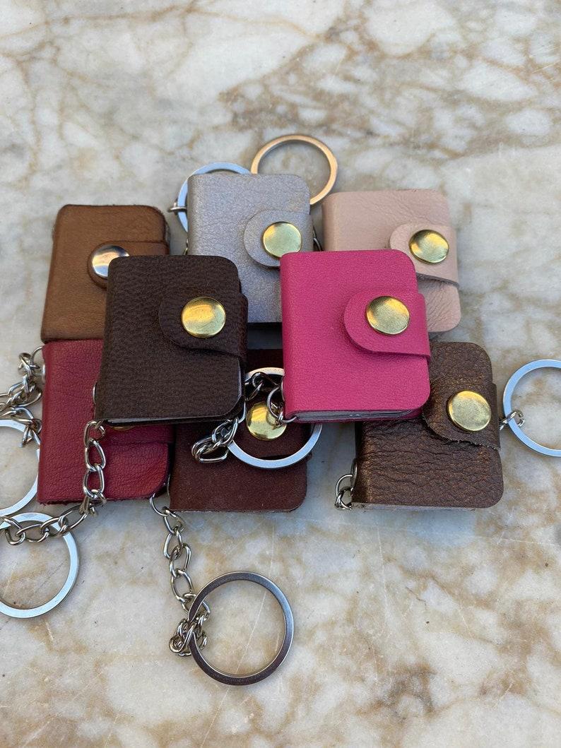 3x Mini Album 18 Photo Keychain-Mini Album Keychain-Photo Album Keychain-Real Leather Keychain-Custom Album Family Set FAST SHIPPING