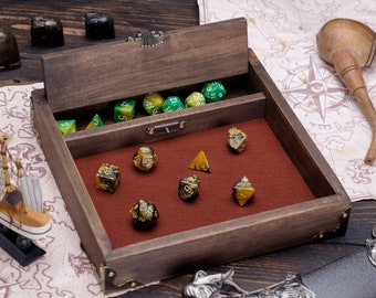 Made in Vermont Wooden Dice Tray for Dungeon and Dragons