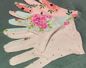 Skin Protection Gloves, Washable Women's Gloves, Cotton Gloves, Shopping Gloves, Protection, Eco-Friendly, Handmade