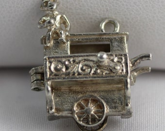 Sterling Silver Charm: Organ Grinder with Monkey