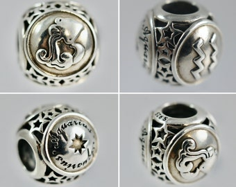 Various Authentic Pandora Star Sign Charms 791934, 791936, 791945, 791941, 791942, 791939, 791944
