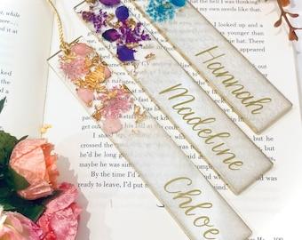 Personalised Resin Bookmark   Real Flower Bookmark   Personalised Gift   Book Lover Gift   Name Bookmark   Botanical Gift   Bookmark