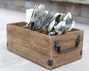 Table top utensil dish, Sponge holder Kitchen cutlery organizer Cutlery caddy Pottery Utensil carrier Cutlery holder Ceramic silverware container
