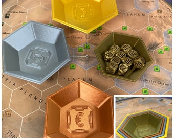 Nesting Cube Trays Bronze/Copper/Silver/Gold/Orange for Terraforming Mars or other Board Games