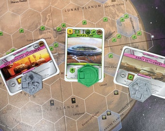 NEW - Set IX Card-Appointed Cities for Terraforming Mars - 3D Textured Upgrade