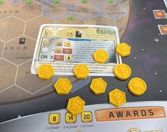 Pharmacy Union Marker Token Set (10 Tokens) for Terraforming Mars