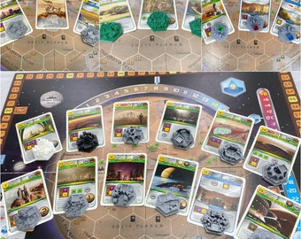 NEW Sets I-VII Card-Appointed Cities/Tiles for Terraforming Mars - 3D Textured Tile Upgrade Set