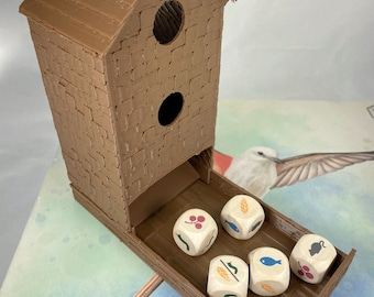 Dice Birdfeeder for Wingspan Game - 3D Textured