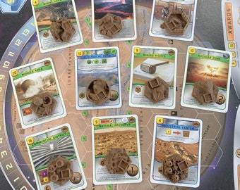 Special Brown Tiles 3D or Low-Profile Textured Upgrade for Terraforming Mars - Set of 10