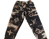 LV Bleached Dyed Inspired Sweatpants