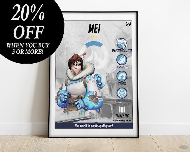 minimalist poster Overwatch poster print Overwatch print kids gift Overwatch poster gaming poster Overwatch Mercy Overwatch