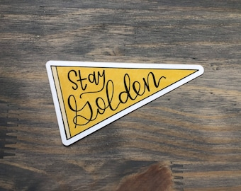 Stay Golden Ponyboy Etsy Find the exact moment in a tv show, movie, or music video you want to share. stay golden ponyboy etsy