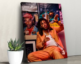 J Cole Rapper Singer Music Home Wall Decor Glossy Poster No Frame Art Xmas Gift