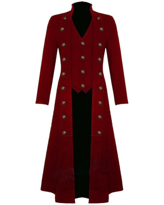 Men's Steampunk Clothing Military Trench Long Coat
