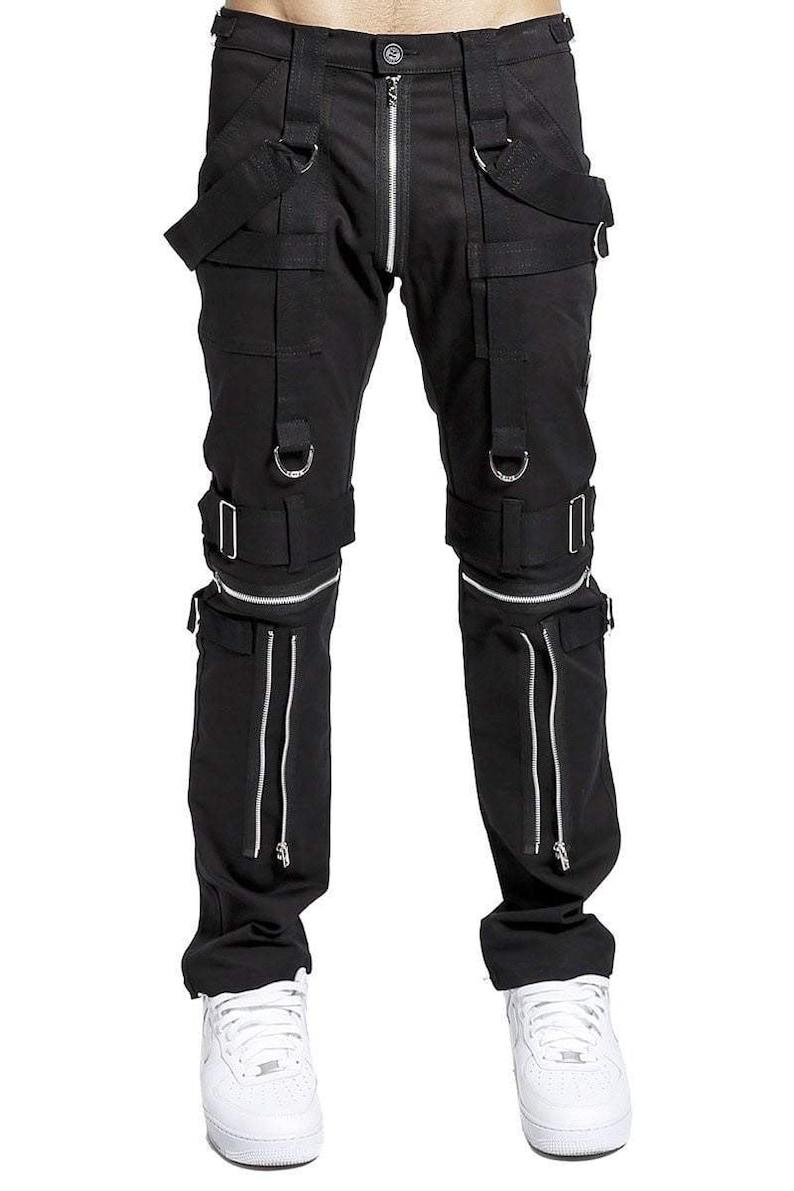 Gothic Bondage Men Pant Alternative Punk Rock EMO Trouser Para Pant Tripp Pants