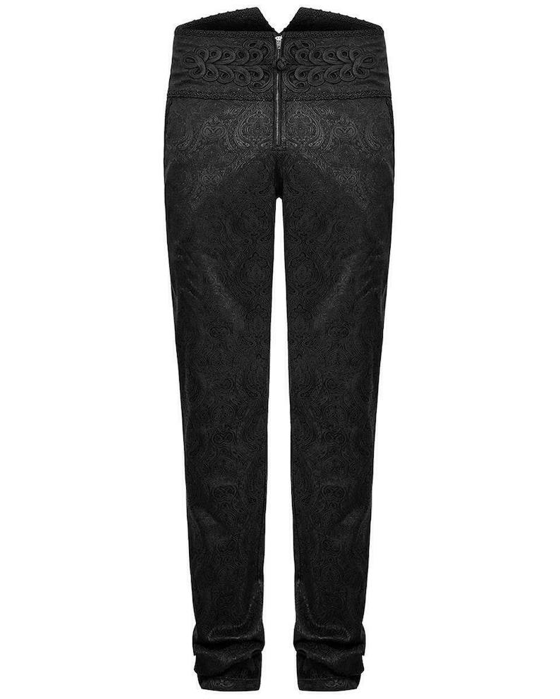 Prime Quality Men/'s Apocrypha Trousers Pants Steampunk Black Brocade Vintage EMO VictorianTripp Pants