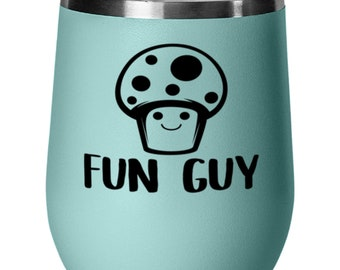 Mushroom Coffee 20oz Tumbler Stainless Steel Insulated Lid Mushroom Coffee Tea Coffee Travel Vacuum Cup Tumbler Red Gift Present Idea