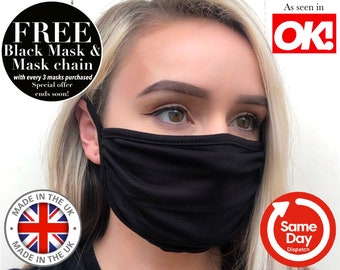 ULTRA SOFT Double Layer Face Mask. Breathable Mask. Washable Face Mask. Soft Stretchy Face Mask. Bestseller Face Mask Made in UK Face Mask.